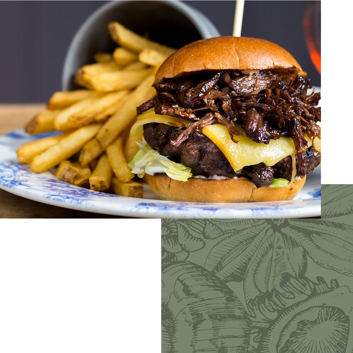 Chef & Brewer - Chef's Signature Barbecue Beef Burger